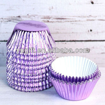 Mini Light Purple Foil Cupcake Liners For All Kinds Of Celebrated Parties