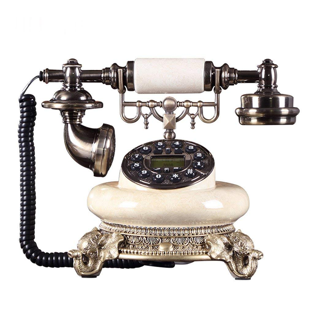 WXL Phone Antique European Style Retro Home Fashion Creative Office Wired Fixed Antique Telephone Landline (Size : L225MMH220MM)