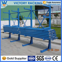 Alibaba Trade Assurance Top Quality Heavy Duty Steel Cantilever Single Sided Rack