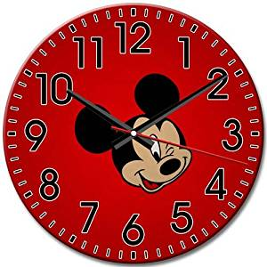 Arabic Numbers New Quiet Gift Round Wall Clock Disney Epic Mickey Frameless 10 Inch / 25 cm Diameter
