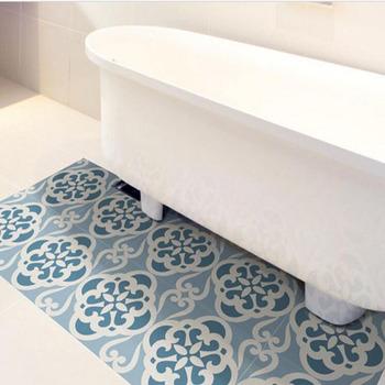 Waterproof Removable Custom Bathroom Vinyl Decal Floor ...