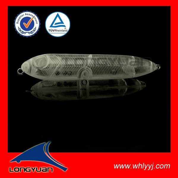 10cm 12g Blank Plastic pencil lure stick bait fishing lure with 3D eye H053-100