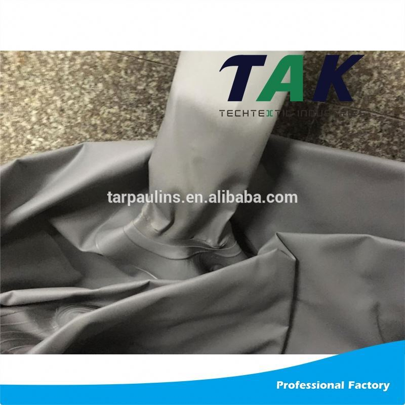Black 1100 Dtex Pvc Laminated Tarpaulin Stock