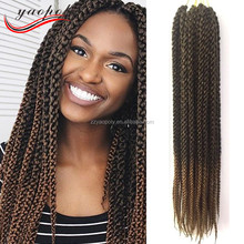 ombre color 3d cubic twist crochet braid hair synthetic braiding hair for black women