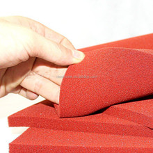Red Open Cell Steam Penetration Silicone Foam Sponge Rubber Sheet Roll For Ironing Table And Press
