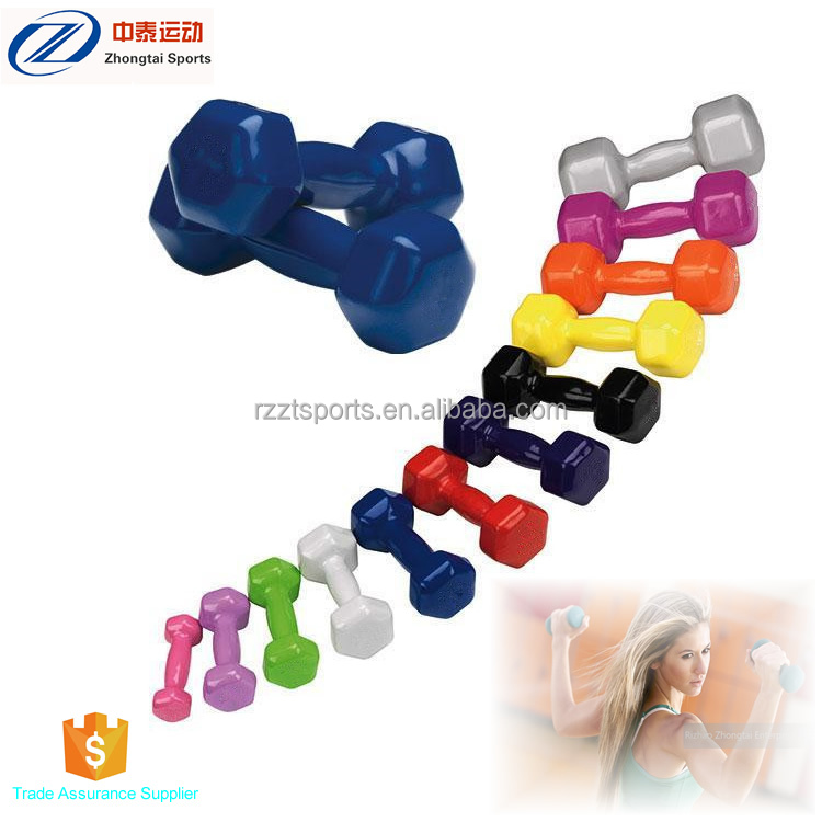Donne hex colorato fitness immersione manubri