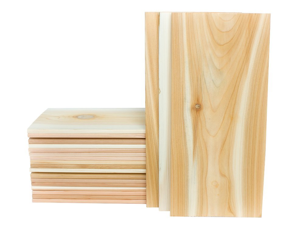 """Cedar Grilling Planks Extra Large 7x15"""" (20 Pack) Perfect for a whole King Salmon Fillet"""