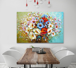 Hand Made Famous Creative Knife Flower Canvas Handmade Oil painting