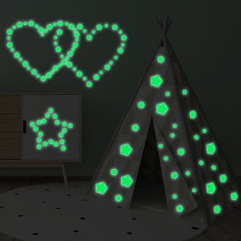 Wall Sticker Home Glow Decor Luminous 127 Stars Fluorescent Stars Stickers Glow In The Dark Sticker