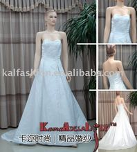 EB090 satin hand-beaded embroidery imperial bridal gown brand new wedding dress bridesmaid dress