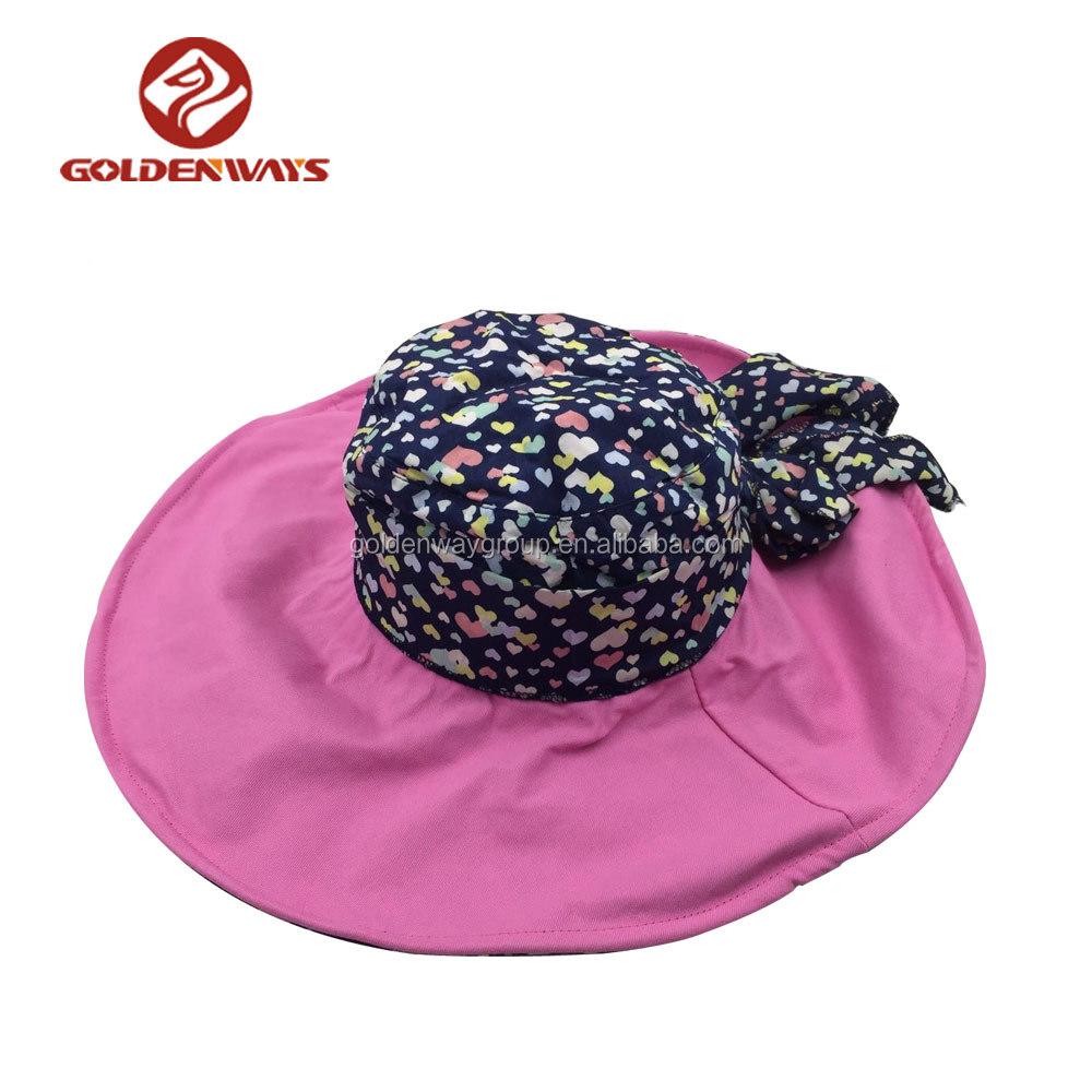 2018 Venta caliente de la manera sombrero del cubo del algodón para mujer  bowknot 8df7308e235