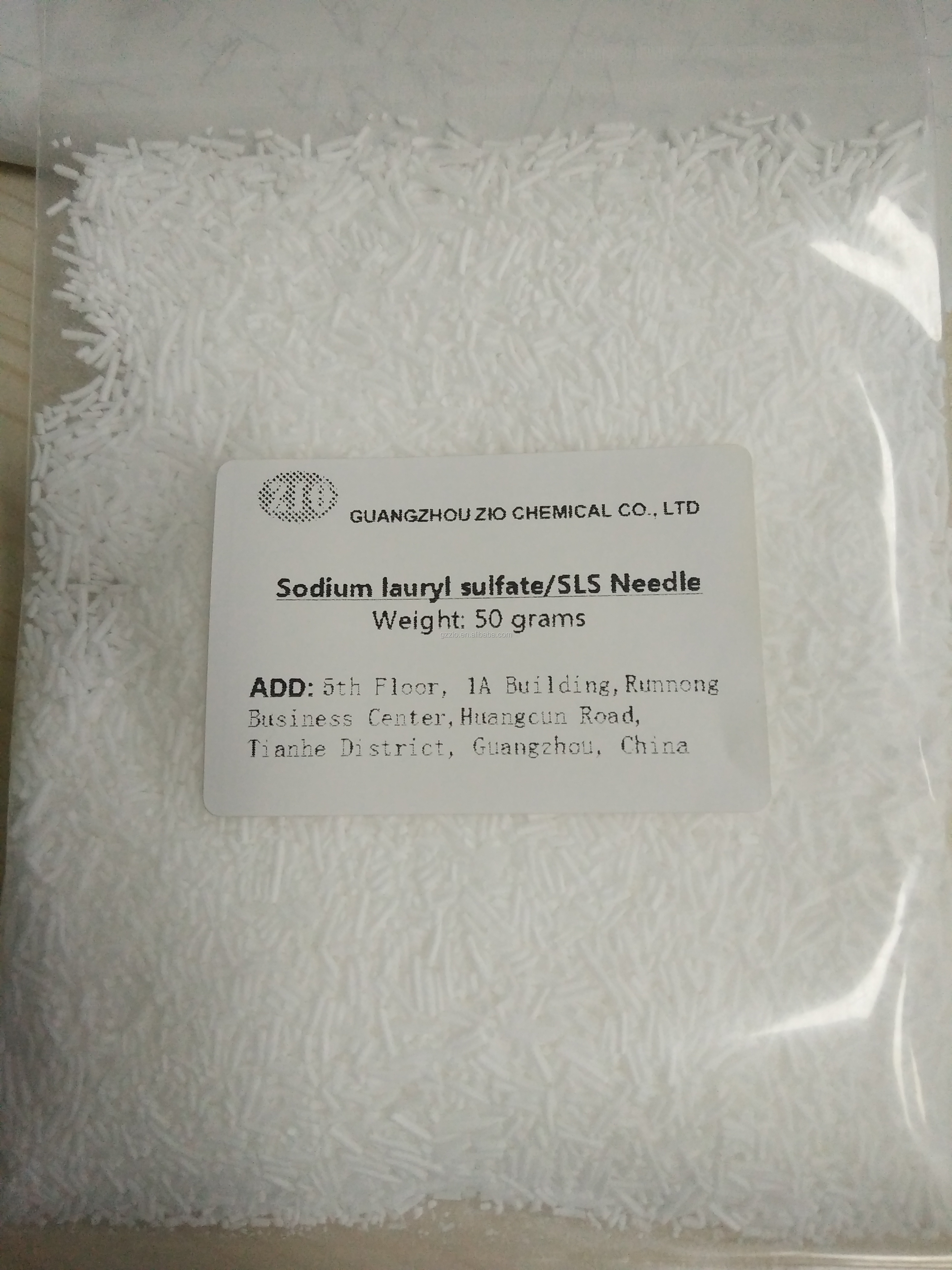 Guangzhou tech grade sodium lauryl sulfate needles k12 for concrete factory price