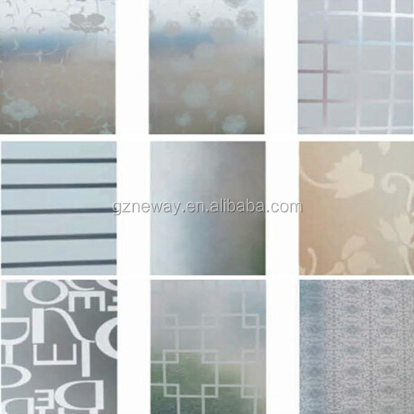 Guangzhou neway window film for decoration glass for Decorative window glass types