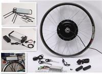 CE!48V 750w Disc Brake Wheel electric bikes uk kits rear e-bike motor with rack type lithium battery