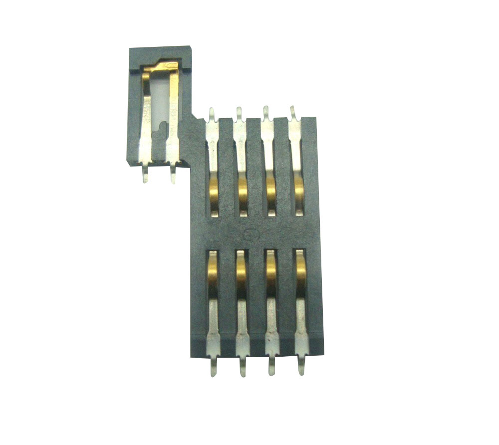 Mini Smart card push pull conector 8pin IC Todo o plástico