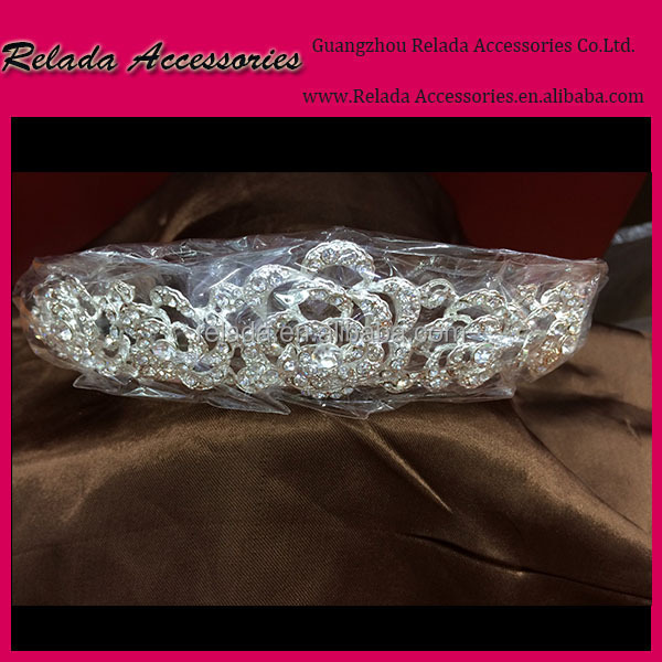 Factory Direct Wholesale costume jewelry princess crystal tiaras jewelry headpieces