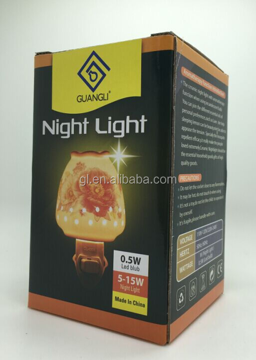 Salt lamp Aroma Essential Oil Iron plug in night light AC 110v 220v GL-TY01 ETL CE SAA CB BS