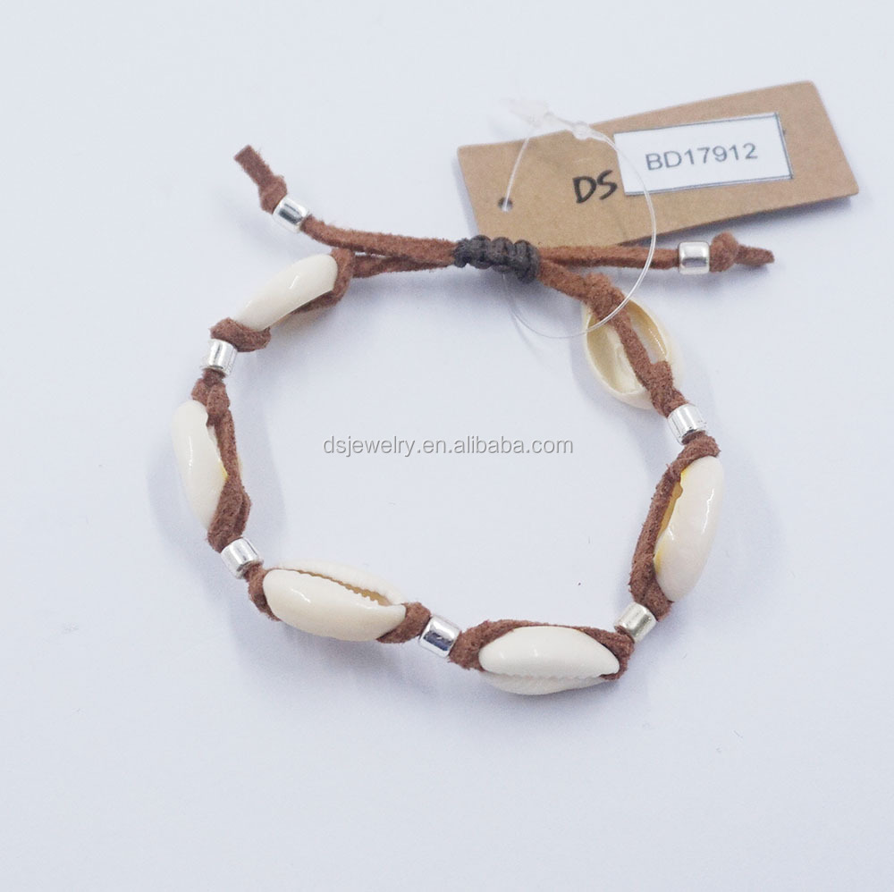 2017 wholesale open bangle sea shell bracelets made of natural stones