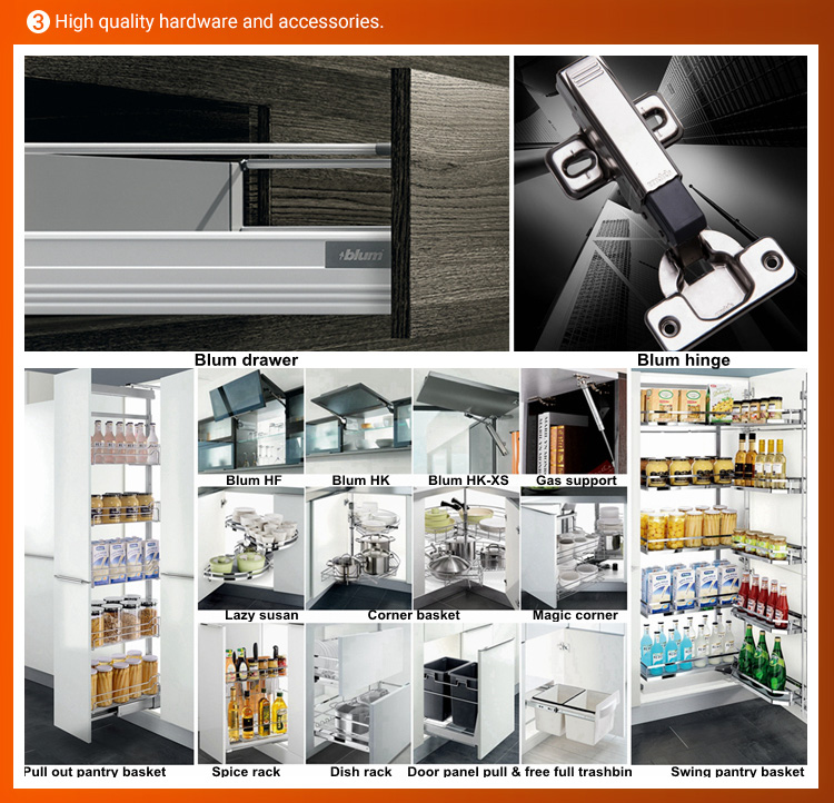 2019 New Model Home Furniture kitchen cabinet solid wood
