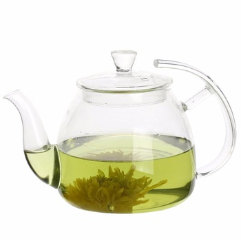Wholesale glass teapot with infuser from factory fine teapot handmade blown