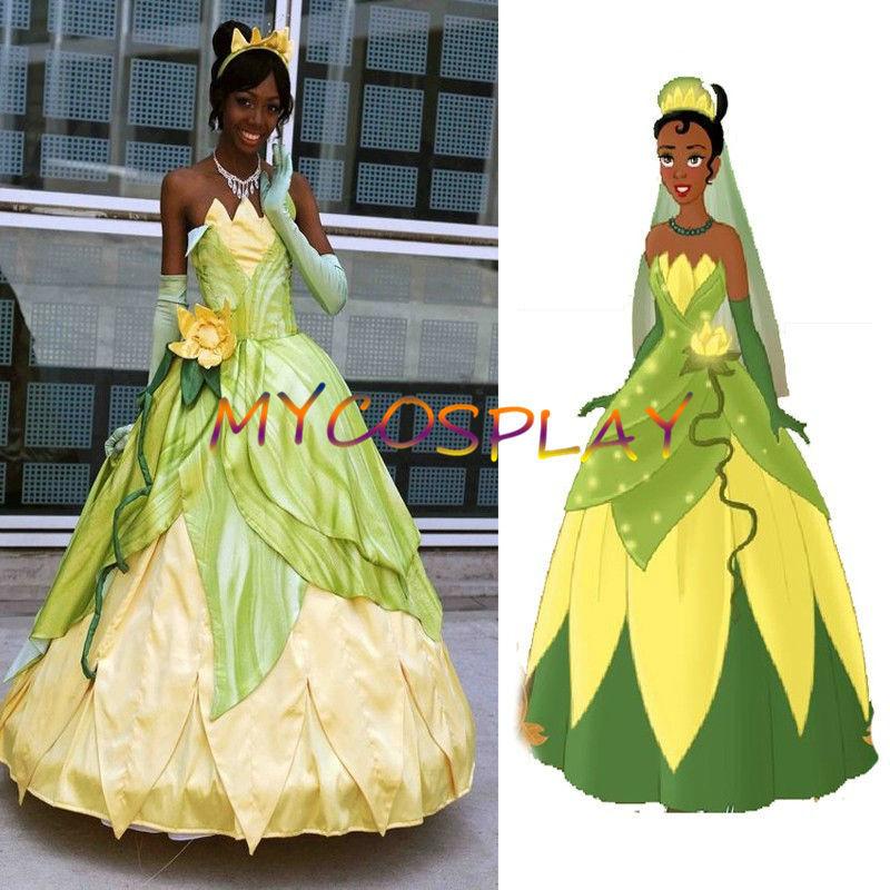 Princess Tiana Dress: 2015 Cheap Custom Made Tiana Princess Dress Costume Party