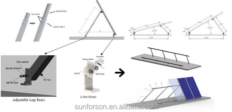 Solar Adjustable Roofing Mounting System Structure For