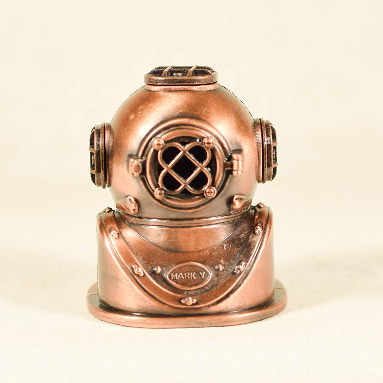 Die Cast Deep Sea Divers Helmet Sharpener Collectible Miniature Figurine - Diver Figurine Miniature - Rare Pencil Sharpener - Antique Finished