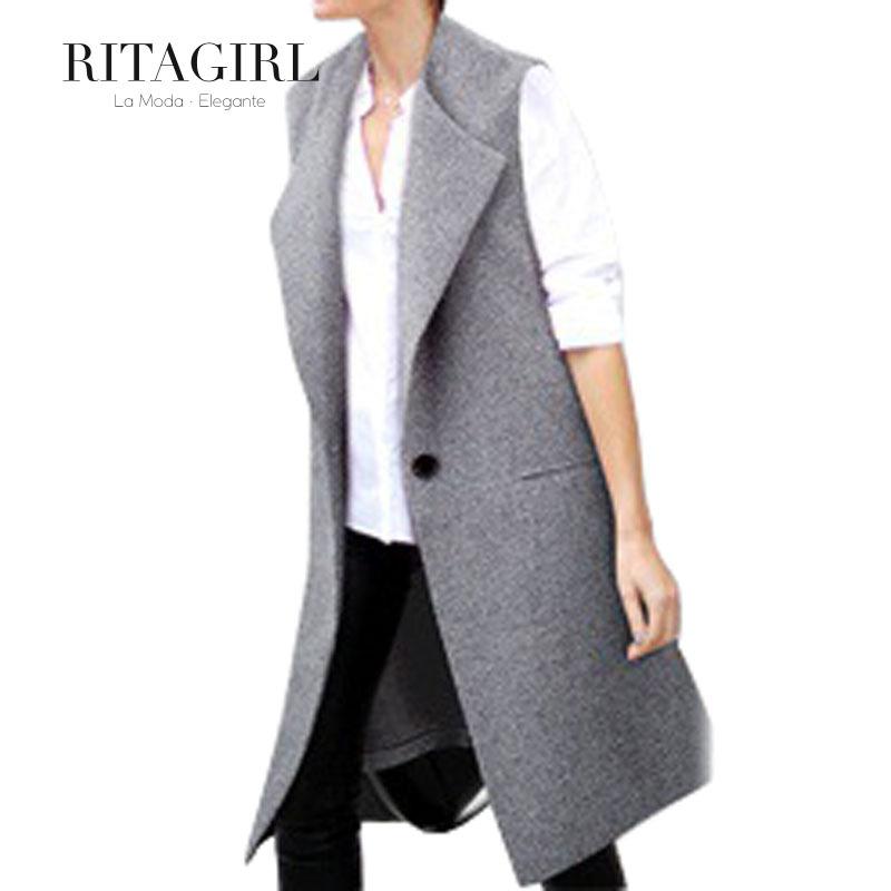 С v-образным вырезом длинная одна пуговица женское жилет soild без тары большие размер женщины пальто без рукавов карманы жилеты NAR0050