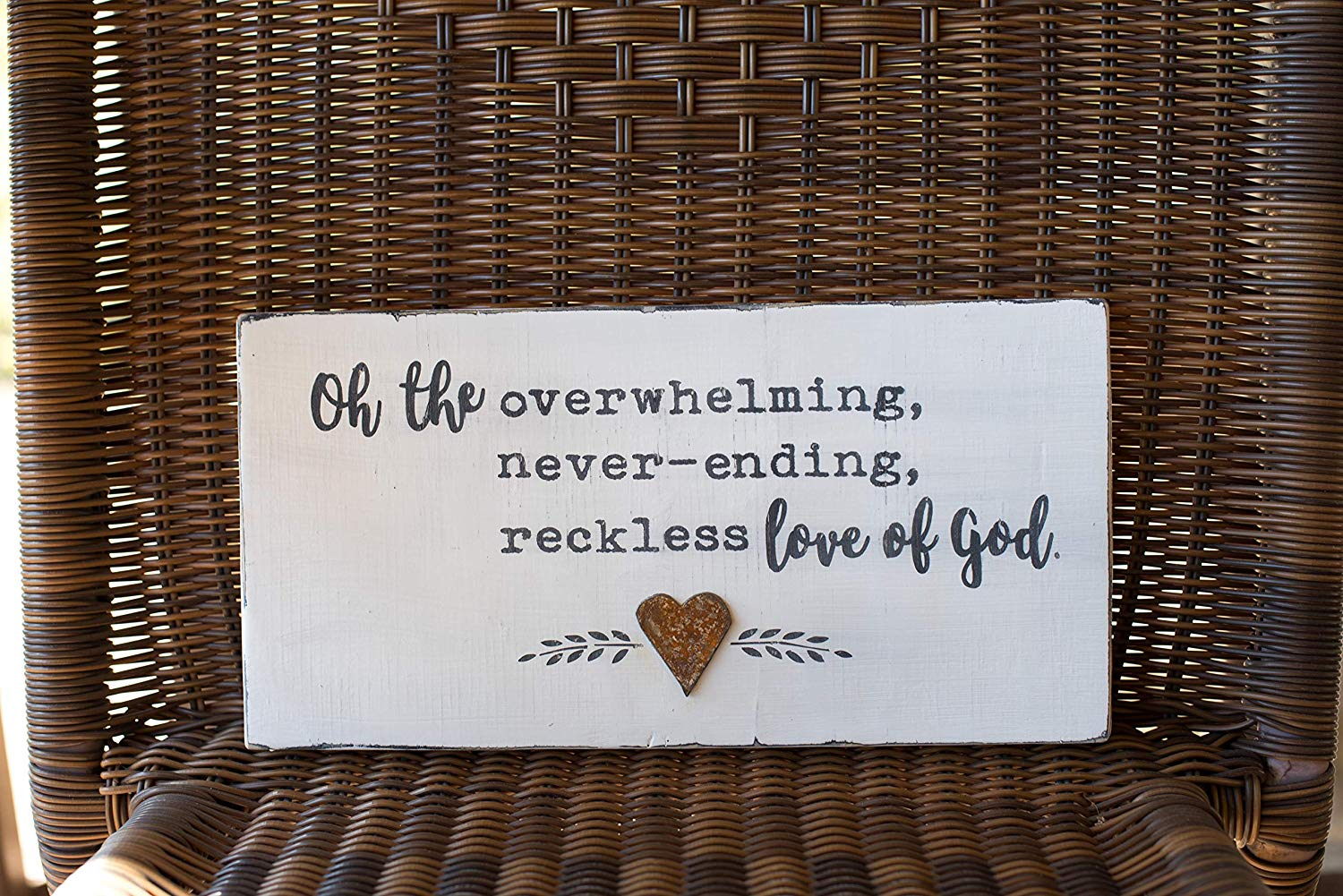 Reckless love of God wood sign, wood sign, home sign, farmhouse, rustic wood sign, weathered wood sign, Hand Painted Wood Sign, Christian