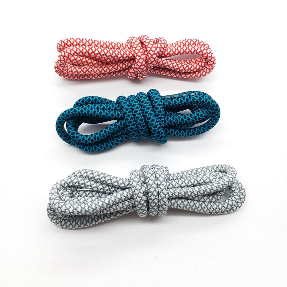 Durable custom 4mm sneaker yeezy reflective rope shoelaces