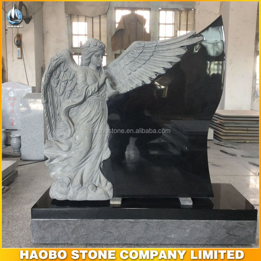 China Black Granite Cemetery Angel Tombstone/Monument/Headstone