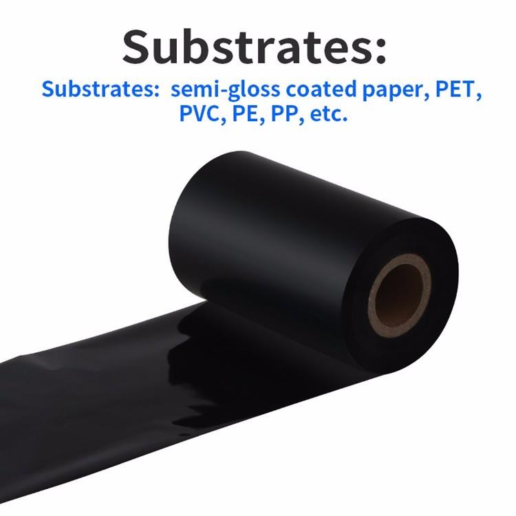 ODM/OEM मोम राल रिबन प्रिंटर रिबन B210 थर्मल स्थानांतरण रिबन बारकोड प्रिंटर के सभी ब्रांडों के लिए फिट