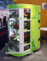 Self service easy operated stand alone flower vending machine