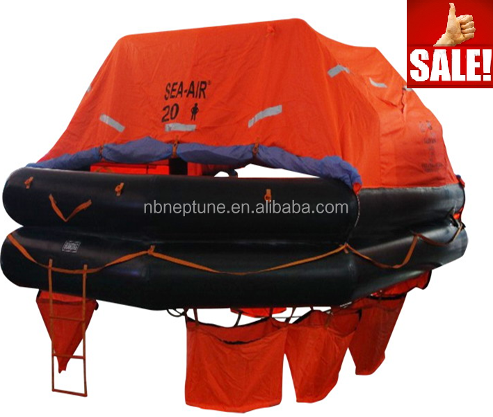 rubber material liferaft 20 person