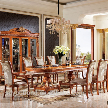 0062 European Design Home Furniiture High End Classic Wood Dining Table And Chair