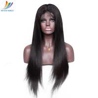 SevenGirls Factory Wholesale Price Peruvian Human Hair Straight Lace Frontal Wig With Baby Hair