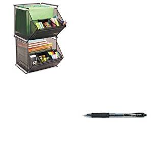 KITPIL31020SAF2164BL - Value Kit - Safco Onyx Stackable Mesh Storage Bin (SAF2164BL) and Pilot G2 Gel Ink Pen (PIL31020)