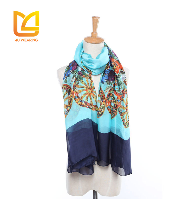 Fashion lady scarf heavy new model shawl wholesale chiffon shawl