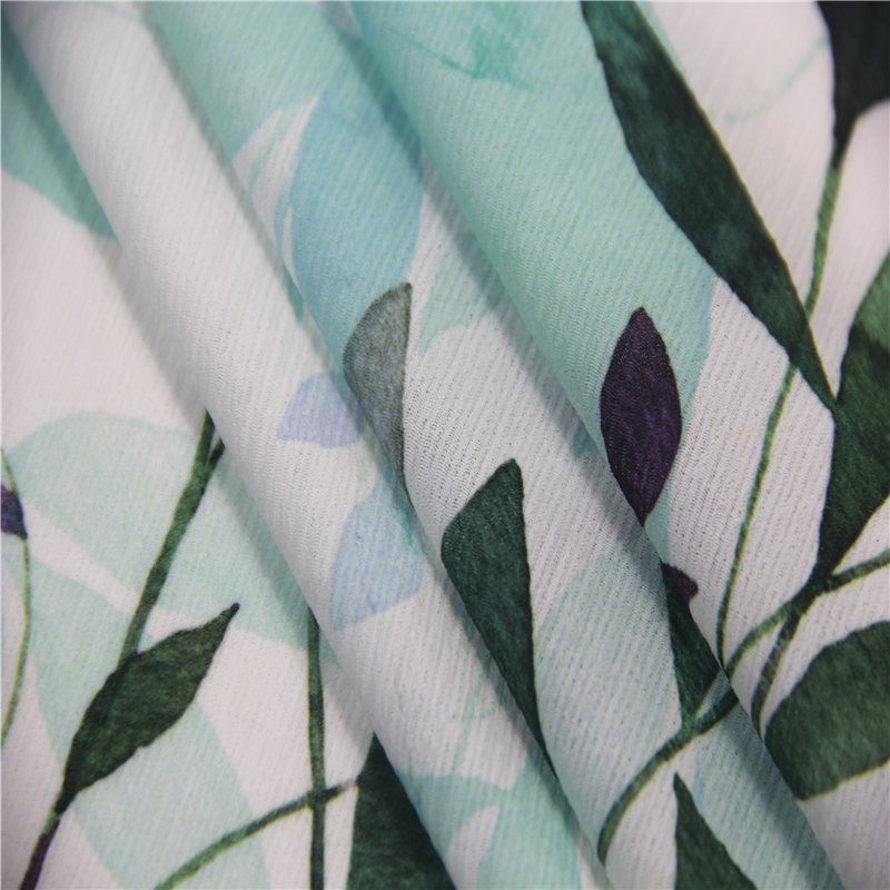 100% polyester bubble chiffon fabric, printed crinkle chiffon for dress