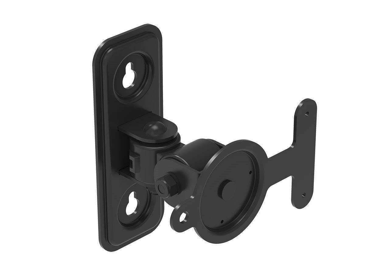 Monoprice Pivoting Speaker Wall Mount - Black for SONOS Play:3 Speakers | Easy Installation, Stong & Sturdy