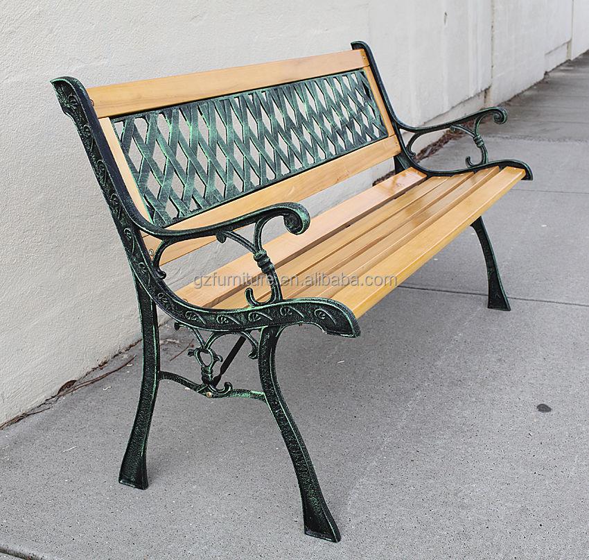 en fonte et bois dur jardin meubles de jardin chaise longue banc de jardin buy banc de jardin. Black Bedroom Furniture Sets. Home Design Ideas