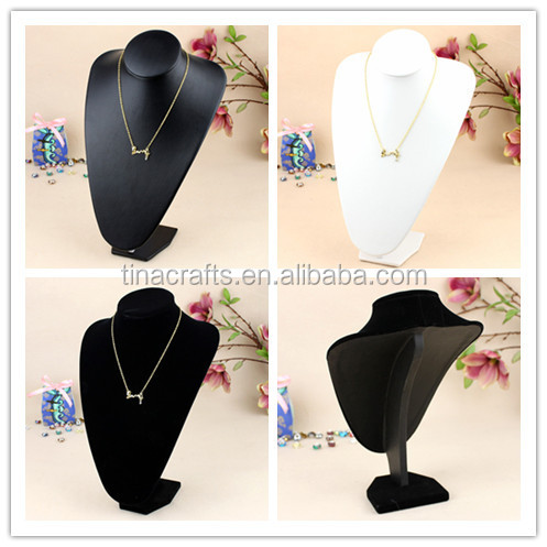 Velvet Pendant Necklace Display Props Neck Model Wholesale Jewelry Display Bust