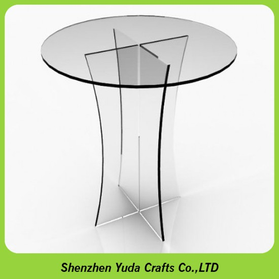 High Quality Bespoke Large Coffee Tables Plexiglass Cylinder Table Acrylic PMMA Round  Acrylic Table
