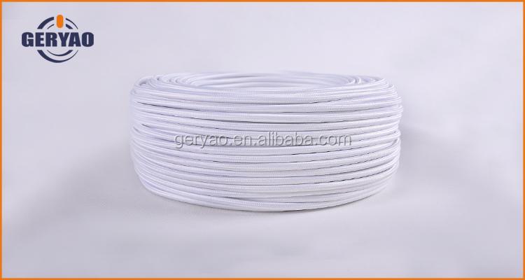 Weiße Farbe 3-adriges Runde Stoff Gestrickt Elektrischen Draht Mit ...