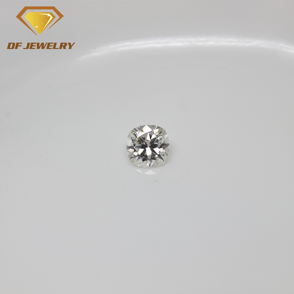 10% Off G H I Color White Cushion Moissanite