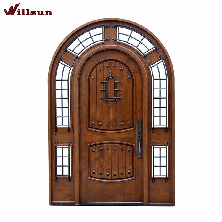 Arched Design Used Exterior Wrought Iron Front Doors For Sale Manufacture In China