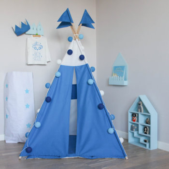 Blue banner children play teepee tent kids tipi play indoor : tipi tent kids - memphite.com