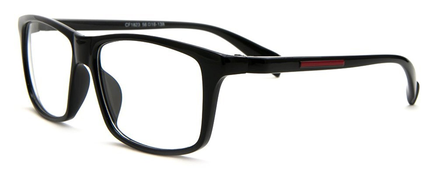Newbee Fashion - Casual Simple Squared Durable Frames Designer Inspired Clear Eye Glasses