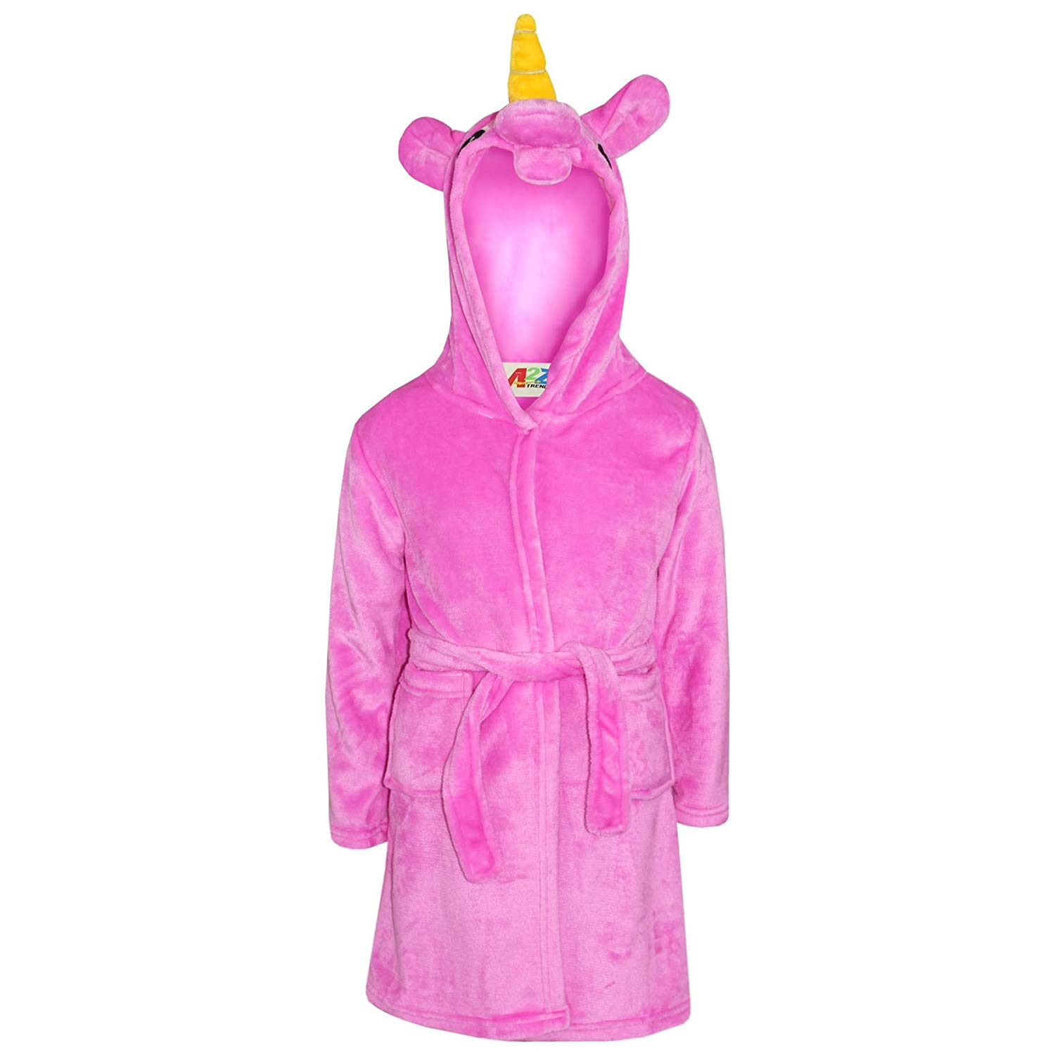 b46a1ad39c Get Quotations · Girls Bathrobe 3D Animal Unicorn Cerise Dressing Gown  Fleece Night Lounge Wear