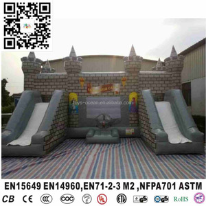 Outdoor Game Inflatable Double Slide Bounce Castle